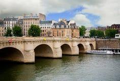 pont paris neuf Франции Стоковое Изображение