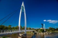 Pont piétonnier Images libres de droits