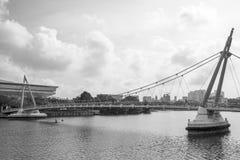 Pont piétonnier Photo libre de droits