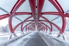 Pont piétonnier, Calgary, Alberta image libre de droits