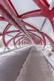 Pont piétonnier, Calgary, Alberta images stock