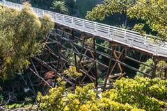 Pont piétonnier de rue de coing construit en 1905 Photographie stock