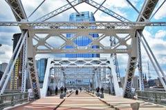 Pont piétonnier de rue de Shelby Image libre de droits