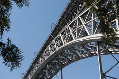 Pont Porto de Luis I Photo libre de droits