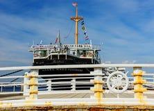 Pont près de bateau de Hikawa Maru, Yokohama image libre de droits