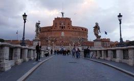 Pont près de Castel Santangelo, Rome, Italie photos stock