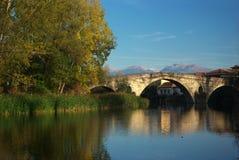 Pont près de village de Nevestino Image libre de droits
