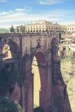 Pont Puente Nuevo dans le rondeau Photos libres de droits