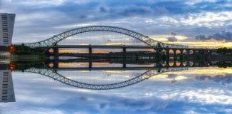 Pont R-U de Runcorn Photographie stock libre de droits
