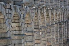 Pont romain antique en aqueduc de Ségovie photographie stock libre de droits