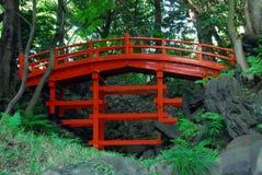 Pont rouge Photos stock