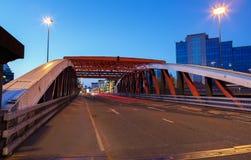 pont rouge en fer Image stock