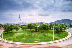 Pont, route circulaire Image libre de droits