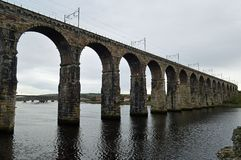 Pont royal en frontière, Berwick-Sur-tweed le Northumberland Angleterre photo libre de droits