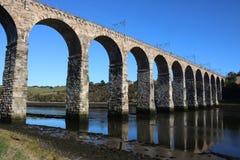 Pont royal en frontière, tweed de rivière, le Northumberland photo stock