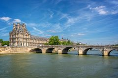 Pont Royal Royal bridge and the Seine river in Paris France. Pont Royal Royal bridge and the Seine river in Paris, France Royalty Free Stock Image