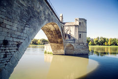 Pont Saint-Benezet in Avignon Stock Photos