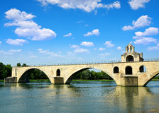 Pont Saint-Benezet in Avignon Stock Photo
