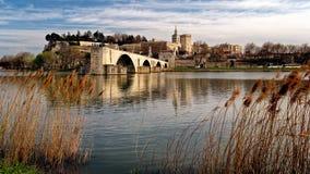 Pont Saint-Benezet_Avignon och Provence arkivbild