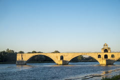 Pont Saint Benezet known as the Pont d`Avignon Stock Image
