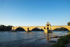 Pont Saint Benezet known as the Pont d`Avignon Royalty Free Stock Photo