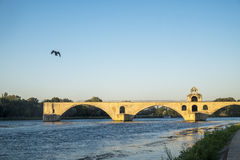 Pont Saint Benezet known as the Pont d`Avignon Stock Photos
