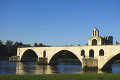 The Pont Saint-Benezet or the Pont d'Avignon in Avignon, France Royalty Free Stock Photography