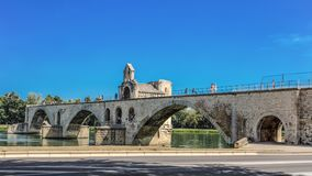Pont Saint-Benezet on the Rhone River in Avignon, France. royalty free stock photography