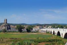 Pont - Saint - Esprit, Gard, France. The Bridge of Saint Esprit - Pont Saint Esprit (Pont St Esprit ), Gard, France Royalty Free Stock Image