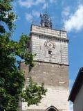 Pont Saint  Esprit, Gard, France. Clock tower in Pont Saint  Esprit, Gard, France Stock Photo