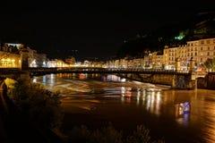 Pont Saint Laurent à Grenoble image stock