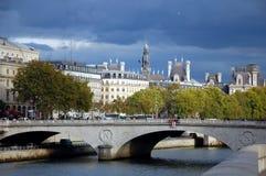 The pont Saint- Michel in Paris Stock Image