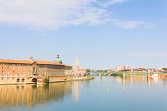 Pont Saint Pierre bridge over the Garonne river, Toulouse Royalty Free Stock Photography