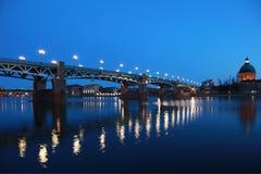 Pont San-Pierre a Toulouse Fotografie Stock Libere da Diritti