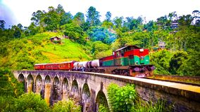 Pont Sri Lanka de vo?te d'Ella Nine photographie stock libre de droits