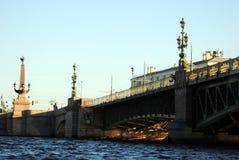 Pont St Petersburg de trinité Photographie stock libre de droits