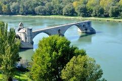Pont StBénézet,阿维尼翁 图库摄影