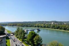 Pont StBénézet,阿维尼翁 免版税库存照片