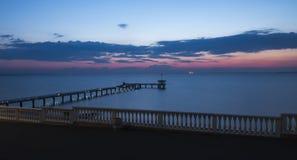 Pont sur la mer Photographie stock libre de droits