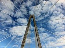 Pont sur le fond de ciel Photos stock