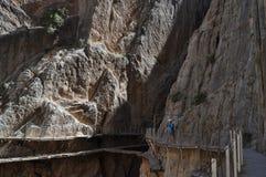 Pont sur une falaise Photographie stock libre de droits