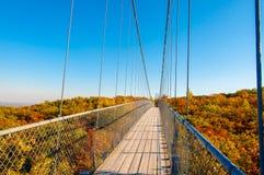 Pont suspendu image stock