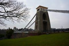 Pont suspendu d'Avon image libre de droits