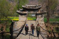Pont suspendu dans la porcelaine de sud-ouest Images stock