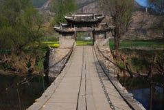Pont suspendu dans la porcelaine de sud-ouest Image stock