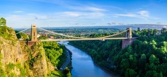 Pont suspendu de Bristol au coucher du soleil Photos libres de droits