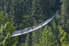 Pont suspendu de Capilano, Vancouver, Colombie-Britannique Photo libre de droits