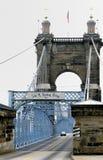 Pont suspendu de Cincinnati Images libres de droits