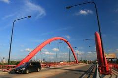 Pont suspendu de Damen Chicago photo libre de droits