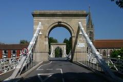 Pont suspendu de Marlow Photo libre de droits